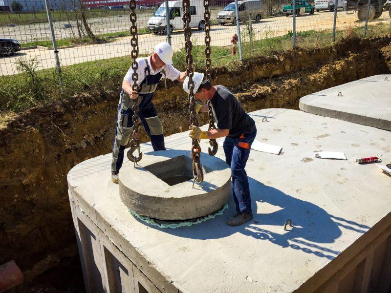 közműépítés műtárgy elhelyezés